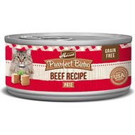 Merrick Purrfect Bistro Beef Pate Grain-Free Canned Cat Food, 5.5-oz, case of 24