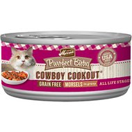 Merrick Purrfect Bistro Grain-Free Cowboy Cookout Morsels in Gravy Canned Cat Food, 5.5-oz, case of 24