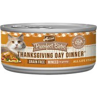 Merrick Purrfect Bistro Grain-Free Thanksgiving Day Dinner Minced in Gravy Canned Cat Food, 5.5-oz, case of 24