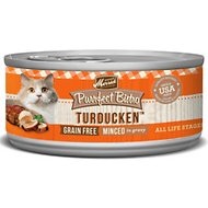 Merrick Purrfect Bistro Grain-Free Turducken Minced in Gravy Canned Cat Food, 3-oz, case of 24