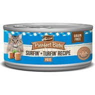 Merrick Purrfect Bistro Grain-Free Surf & Turf Grain-Free Canned Cat Food, 5.5-oz, case of 24