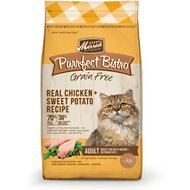 Merrick Purrfect Bistro Grain-Free Real Chicken + Sweet Potato Recipe Adult Dry Cat Food, 12-lb bag