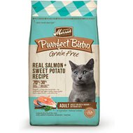 Merrick Purrfect Bistro Grain-Free Real Salmon + Sweet Potato Recipe Adult Dry Cat Food, 12-lb bag