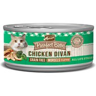 Merrick Purrfect Bistro Grain-Free Chicken Divan Morsels in Gravy Canned Cat Food, 5.5-oz, case of 24