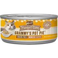 Merrick Purrfect Bistro Grain-Free Grammy's Pot Pie Minced in Gravy Canned Cat Food, 5.5-oz, case of 24