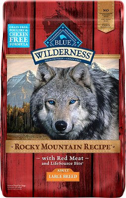 Blue Buffalo Wilderness Rocky Mountain Recipe with Red Meat Large Breed Grain-Free Dry Dog Food
