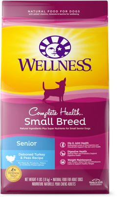 7. Wellness Small Breed Complete Health Senior Dry Dog Food