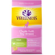 Wellness Toy Breed Complete Health Adult Deboned Chicken, Brown Rice & Peas Recipe Dry Dog Food, 4-lb bag