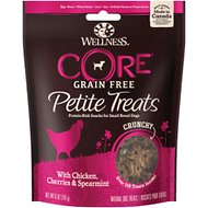 Wellness Core Petite Treats Chicken, Cherries & Spearmint Recipe Crunchy Grain-Free Dog Treats, 6-oz bag