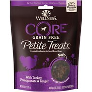 Wellness Core Petite Treats Turkey, Pomegranate & Ginger Recipe Soft Grain-Free Dog Treats, 6-oz bag