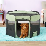 Pet Gear Travel Lite Soft-Sided Pet Pen with Removable Top, Sage, Large