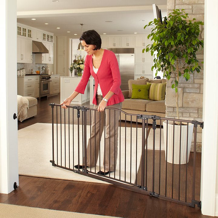 Mypet Windsor Extra Wide Arch Pet Gate For Dogs Cats Chewy Com
