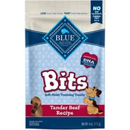 Blue Buffalo Blue Bits Tender Beef Recipe Soft-Moist Training Dog Treats, 4-oz bag