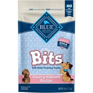 Blue Buffalo Blue Bits Savory Salmon Recipe Soft-Moist Training Dog Treats, 4-oz bag