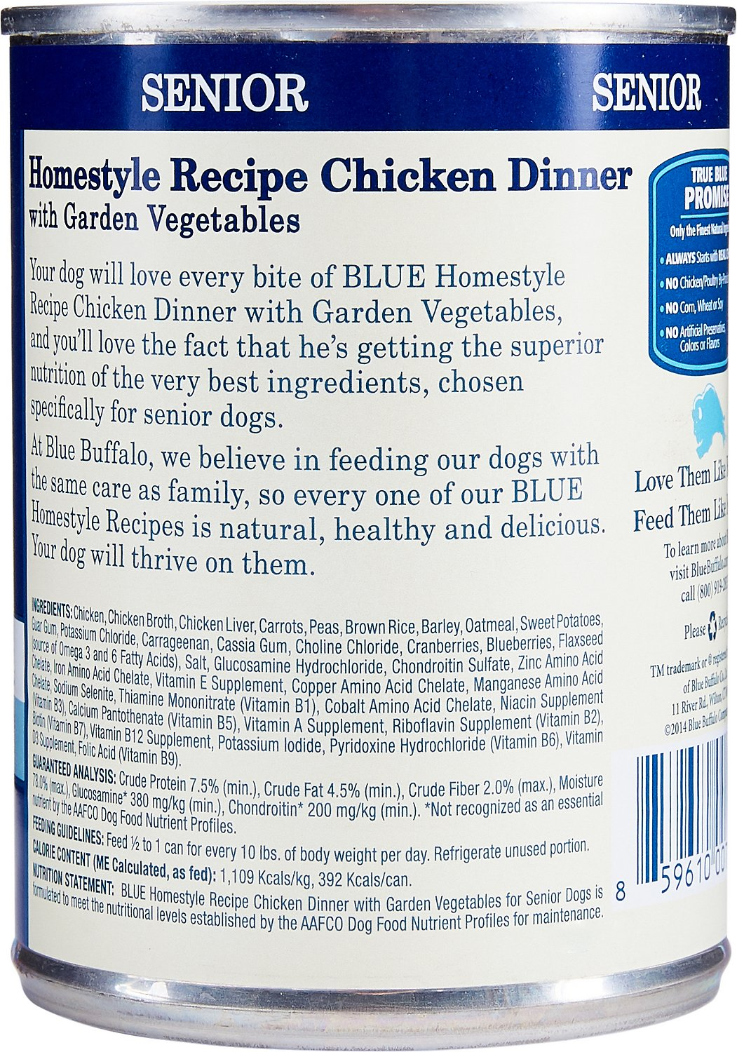 Blue Buffalo Homestyle Recipe Senior Chicken Dinner With Garden