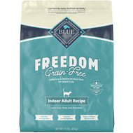 Blue Buffalo Freedom Indoor Adult Fish Recipe Grain-Free Dry Cat Food, 11-lb bag