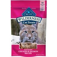 Blue Buffalo Wilderness Chicken & Salmon Grain-Free Cat Treats, 2-oz bag