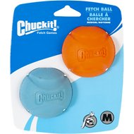 Chuckit! Fetch Ball Dog Toy, Color Varies, Medium, 2 pack