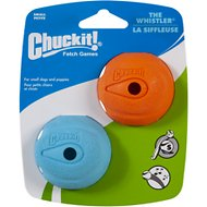 Chuckit! The Whistler Ball, Color Varies, Small, 2 pack