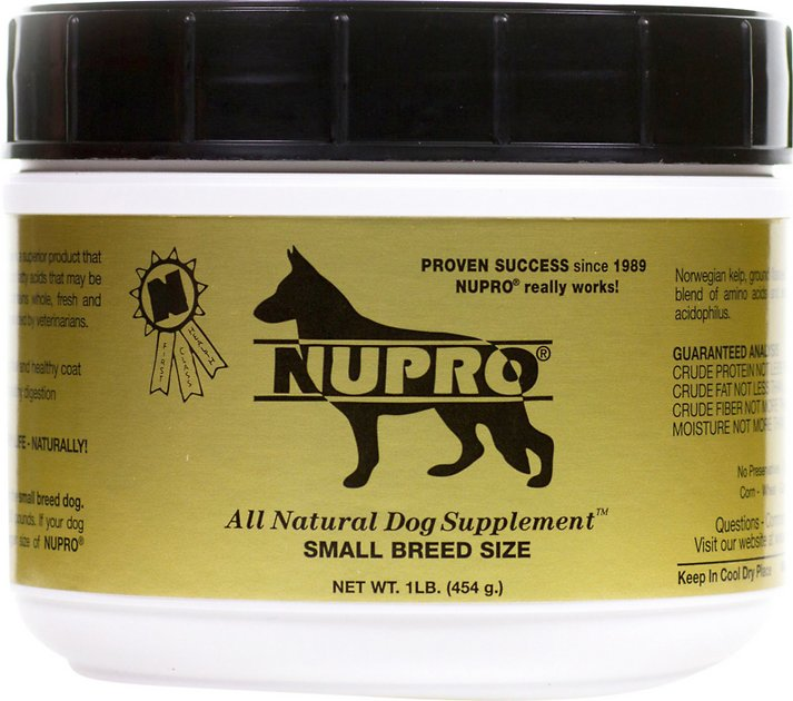 Nupro All Natural Small Breed Dog Supplement  Lb Canister