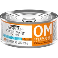 Purina Pro Plan Veterinary Diets OM Overweight Management Formula Canned Cat Food, 5.5-oz, case of 24