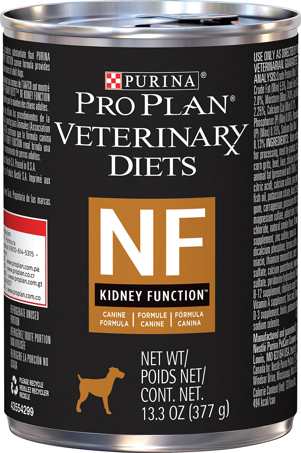 Purina Pro Plan Veterinary Diets NF Kidney Function Formula Canned Dog  Food, 13 3-oz, case of 12