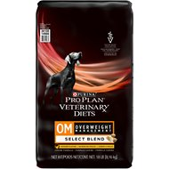 Purina Pro Plan Veterinary Diets OM Select Blend Overweight Management Formula Dry Dog Food, 18-lb bag