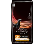 Purina Pro Plan Veterinary Diets OM Select Blend Overweight Management Formula Dry Dog Food, 32-lb bag