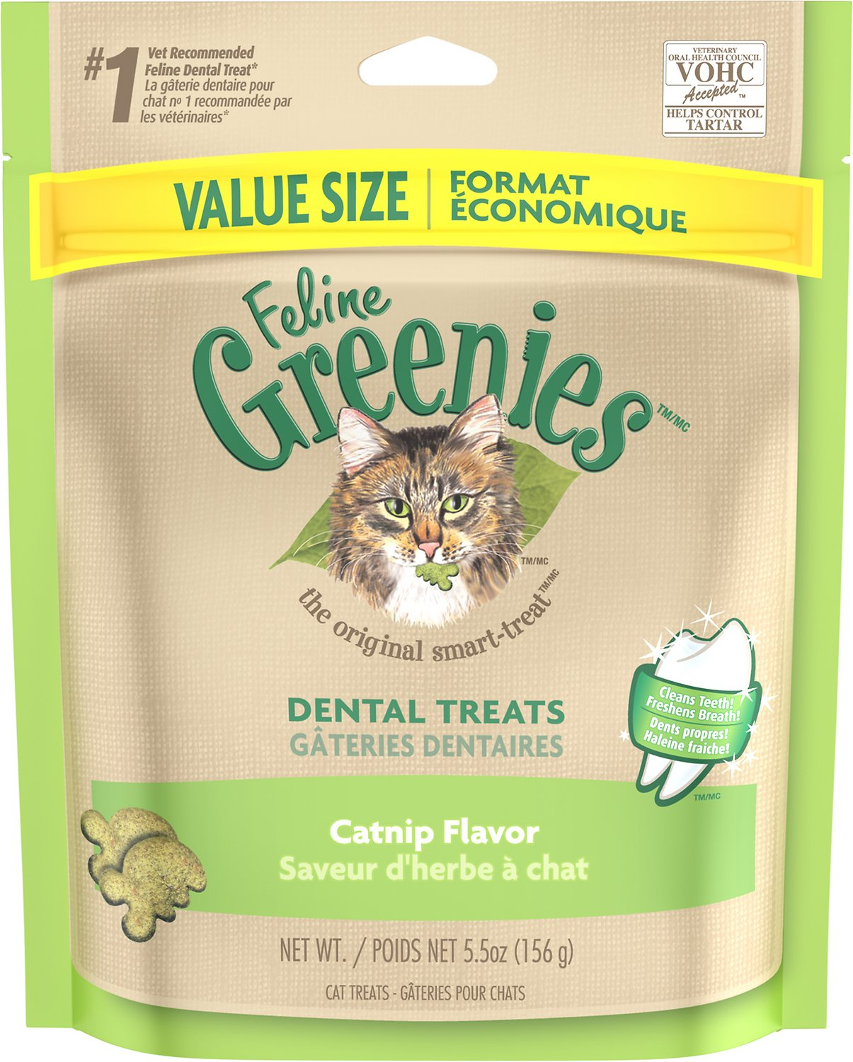 cd3b47a8 Greenies Feline Catnip Flavor Dental Cat Treats, 5.5-oz bag - Chewy.com