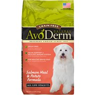 AvoDerm Natural Grain-Free Salmon Meal & Potato Formula All Life Stages Dry Dog Food, 4.4-lb bag