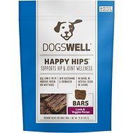 Dogswell Happy Hips Jerky Bars Lamb & Veggies Dog Treats, 15-oz bag