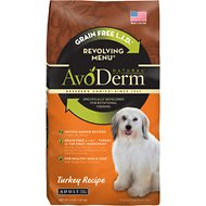 AvoDerm Natural Grain-Free Revolving Menu Turkey Recipe Adult Dry Dog Food, 4-lb bag