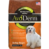 AvoDerm Natural Grain-Free Revolving Menu Turkey Recipe Adult Dry Dog Food, 22-lb bag