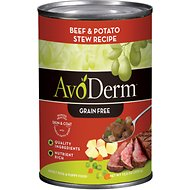 AvoDerm Natural Grain-Free Beef & Potato Stew Recipe Adult & Puppy Canned Dog Food, 12.5-oz, case of 12