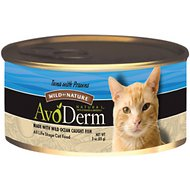 AvoDerm Natural Wild by Nature Grain-Free Tuna with Prawns Canned Cat Food, 3-oz, case of 24