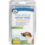 Four Paws Walk-About Quick-Fit Dog Muzzle, XS