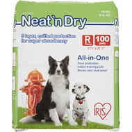 "IRIS Neat 'n Dry Floor Protection & Training Pads, Regular 23 1/2"" x 17 1/2"", 100 count"
