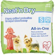"IRIS Neat 'n Dry Floor Protection & Training Pads, Small 17 1/2"" x 17 1/2"", 25 count"