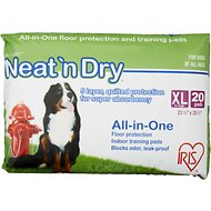 "IRIS Neat 'n Dry Floor Protection & Training Pads, Extra Large 35 1/2"" x 23 1/2"", 20 count"
