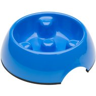 Dogit Go Slow Anti-Gulping Dog Bowl, Blue, X-Small