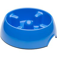 Dogit Go Slow Anti-Gulping Dog Bowl, Blue, Medium