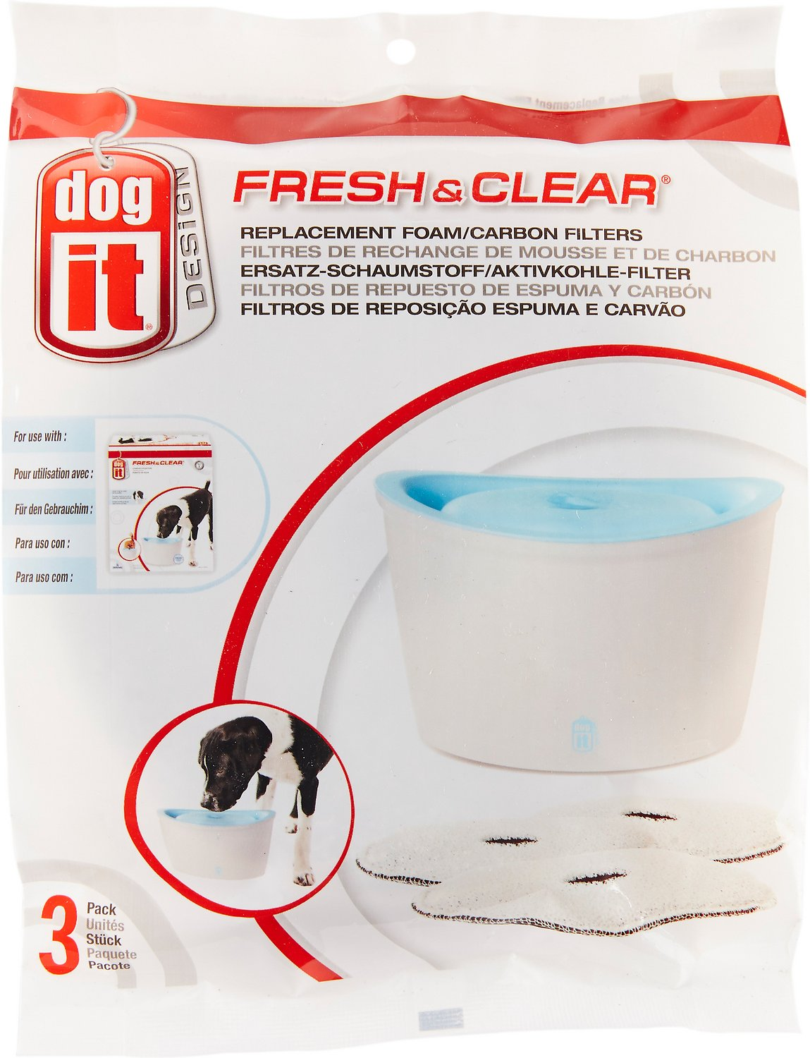 Dogit Design Fresh Clear Dog Drinking Fountain Replacement Foam