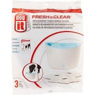Dogit Design Fresh & Clear Dog Drinking Fountain Replacement Foam & Carbon Filters, 3-count