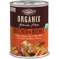 Castor & Pollux Organix Grain-Free Butcher & Bushel Organic Chicken Wing & Thigh Dinner in Gravy Adult Canned Dog Food, 12.7-oz case of 12