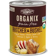 Castor & Pollux Organix Grain-Free Butcher & Bushel Organic Tender Chicken Dinner in Gravy Adult Canned Dog Food, 12.7-oz, case of 12