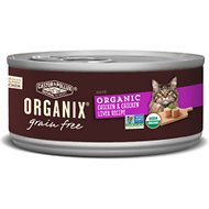Castor & Pollux Organix Grain-Free Organic Chicken & Chicken Liver Recipe All Life Stages Canned Cat Food, 3-oz, case of 24