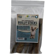 "Pet's Choice Naturals Bully Sticks 6"" Dog Treats, 6 count"