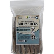 "Pet's Choice Naturals Bully Sticks 6"" Dog Treats, 12 count"