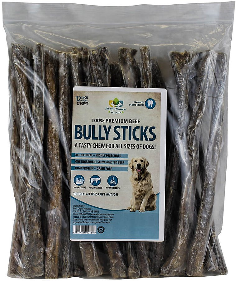 pet 39 s choice pharmaceuticals bully sticks 12 dog treats 25 count. Black Bedroom Furniture Sets. Home Design Ideas