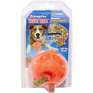 Omega Paw Tricky Treat Ball Dog Toy, Small